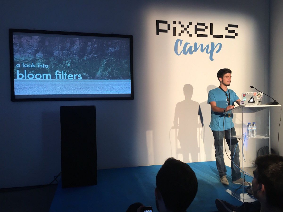 Fernando in his presentation about bloom filters